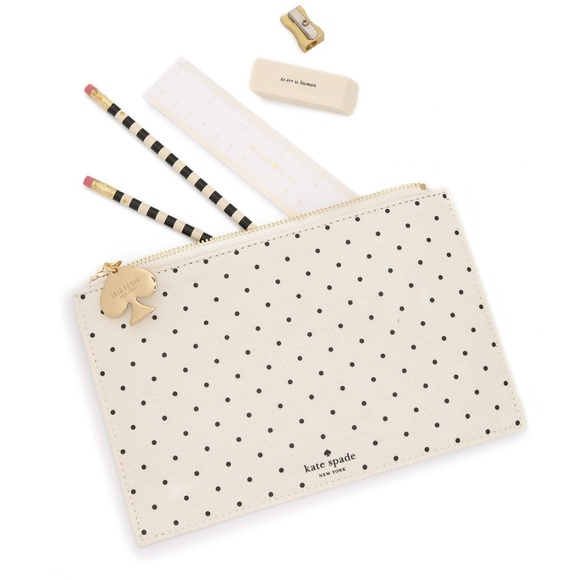 huge discount e6097 aea45 Kate spade pencil pouch with pencil set inside NWT NWT